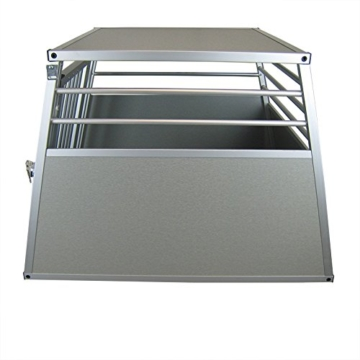 ACMax XXL Hundebox Transportbox Aluminium 92 x 65 x 66cm Hundetransportbox Gr XXL - 2