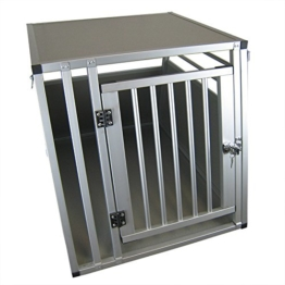 ACMax XXL Hundebox Transportbox Aluminium 92 x 65 x 66cm Hundetransportbox Gr XXL - 1