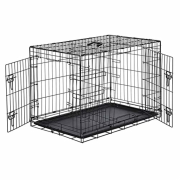 AmazonBasics Hundekäfig mit 2 Türen, Metall, zusammenklappbar, Gr. M - 1