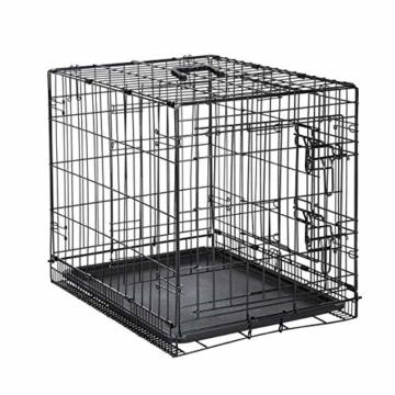 AmazonBasics Hundekäfig mit 2 Türen, Metall, zusammenklappbar, Gr. S - 5