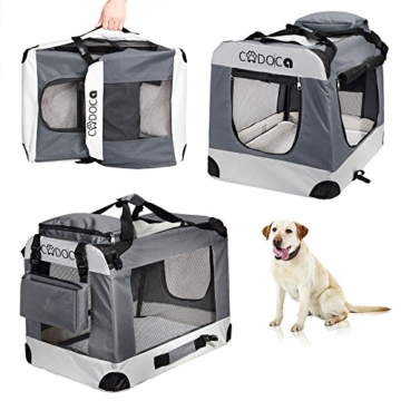 Deuba CADOCA Hundetransportbox faltbar Katzentransportbox Tier Transport Tierbox Größe XXL - 2