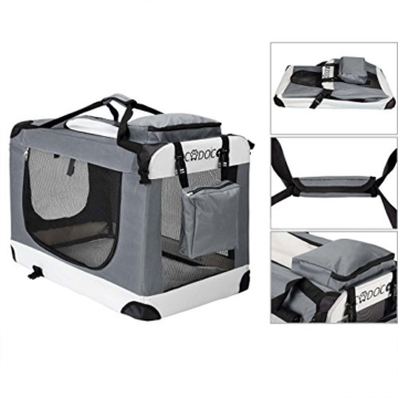 Deuba CADOCA Hundetransportbox faltbar Katzentransportbox Tier Transport Tierbox Größe XXL - 3