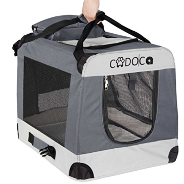 Deuba CADOCA Hundetransportbox faltbar Katzentransportbox Tier Transport Tierbox Größe XXL - 7