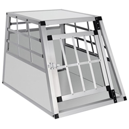 EUGAD Hundebox Transportbox Hundetransportbox Aluminium 1 Türig Reisebox Gitterbox Box 0052HT - 1