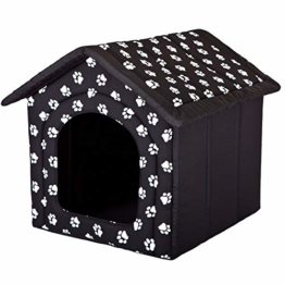Hobbydog R4 BUDCWL2 Doghouse R4 60X55 cm Black with Paws, L, Black, 1.4 kg - 1