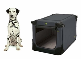 Maelson Soft Kennel Faltbare Hundebox -anthrazit- L 92 - (92 x 64 x 64 cm) - 1