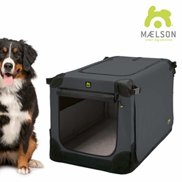 Maelson Soft Kennel faltbare Hundebox -anthrazit - XXL 120 - (120 x 77 x 86 cm) - 1