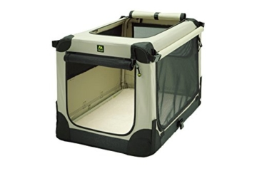 Maelson Soft Kennel faltbare Hundebox -beige - S 72 - (72 x 52 x 51 cm) - 16