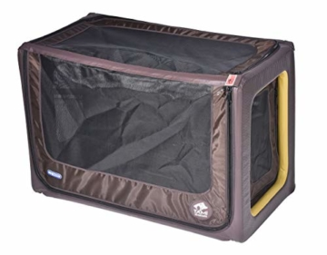 Tami - Hundetransportbox aufblasbar Tragebox Transportbox Hundebox Reisebox Autotransportbox Kofferraumbox Gitterbox Käfig Hund Box Dogbox inflatable inkl. Dog-Vital Bio-Hundekeks (Backseat L) - 1